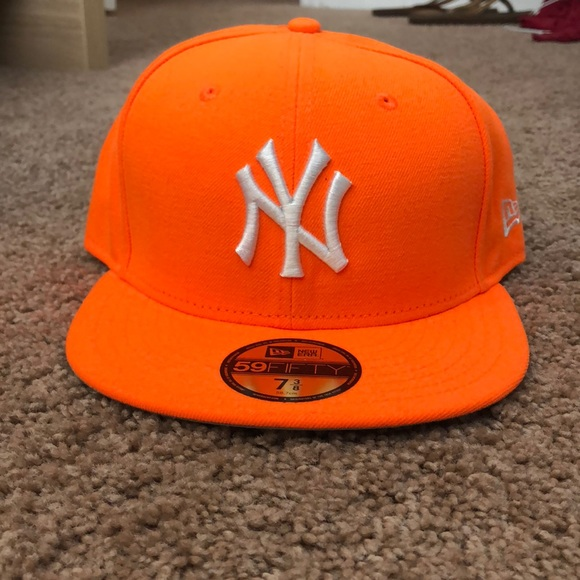 New York Yankees neon orange snapback